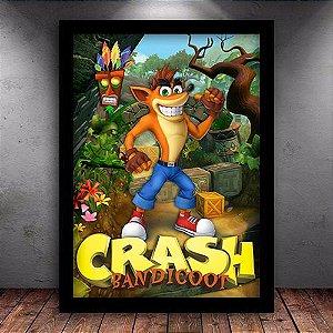 Poster com Moldura - Crash Bandicoot