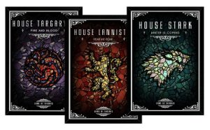 Kit 03 Quadros Decorativos Casas Game Of Thrones