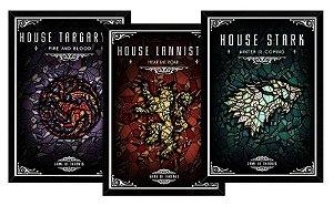 Kit 03 Quadros Decorativos Casas Game Of Thrones