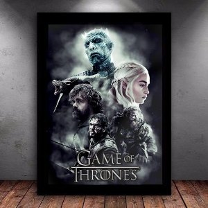 Poster com Moldura - Game Of Thrones