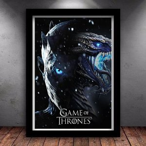 Poster com Moldura - The Ends Begins Game Of Thrones