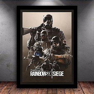 Poster com Moldura - Operadores Rainbow Six Siege