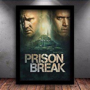Poster com Moldura - Prison Break M.02