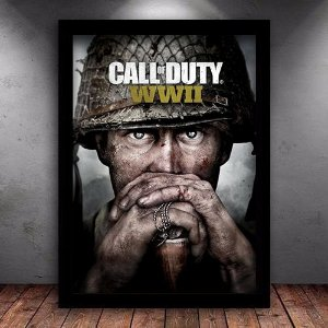 Poster com Moldura - Call Of Duty World War 2