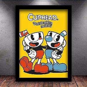 Poster com Moldura - Cuphead