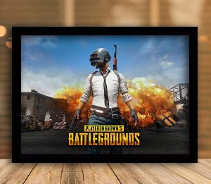 Poster com Moldura - Playerunknown's Battlegrounds