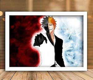 Poster com Moldura - Kurosaki Ichigo x Hollow Ichigo