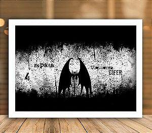 Poster com Moldura -  Ulquiorra Vasto Lorde Espada 4