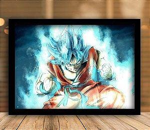 Poster com Moldura - Goku Super Sayajin Blue