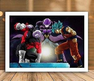 Poster com Moldura - Jiren Vs Goku SSJ Blue
