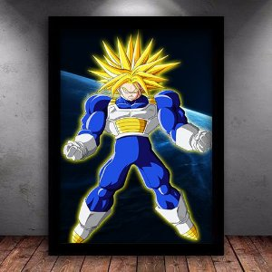 Poster com Moldura - Super Trunks SSJ