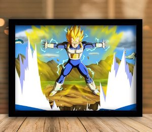 Poster com Moldura - Vegeta Final Flash