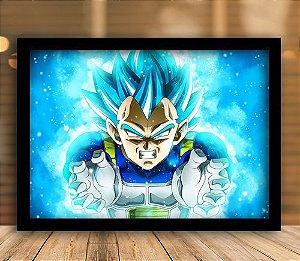 Poster com Moldura - Vegeta Super Sayajin Blue