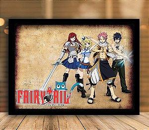 Poster com Moldura - Fairy Tail