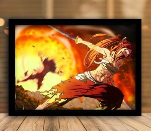 Poster com Moldura - Erza Scarlet Fairy Tail