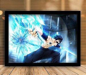 Poster com Moldura - Gray Fullbuster Fairy Tail Mo. 2