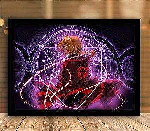 Poster com Moldura - Fullmetal Alchemist Mo. 2