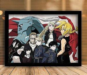 Poster com Moldura - Fullmetal Alchemist Mo. 4
