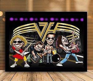 Poster com Moldura - Van Halen