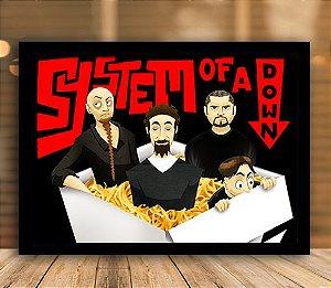 Poster com Moldura - System Of A Down