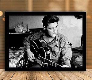Poster com Moldura - Elvis Presley