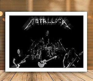 Poster com Moldura - Metallica