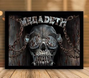 Poster com Moldura - Megadeath Mo.2