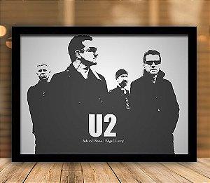 Poster com Moldura - U2