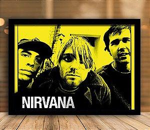 Poster com Moldura - Nirvana Mo.2