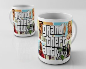 Caneca Grand Theft Auto V - GTA 5