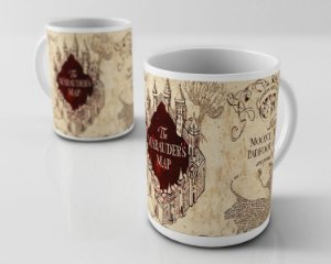 Caneca Mapa do Maroto Harry Potter