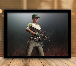 Poster com Moldura - Playerunknown's Battlegrounds PUGB Mo.02