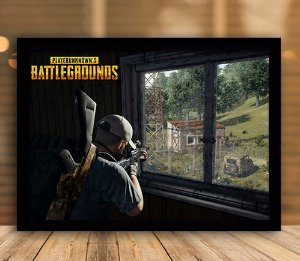 Poster com Moldura - Playerunknown's Battlegrounds PUGB Mo.05