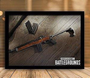Poster com Moldura - Arma Playerunknown's Battlegrounds PUGB   Mo.02