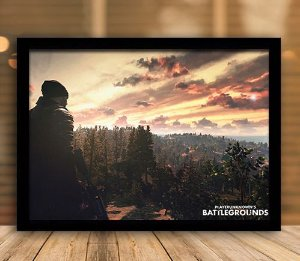 Poster com Moldura - Playerunknown's Battlegrounds PUGB   Mo.09