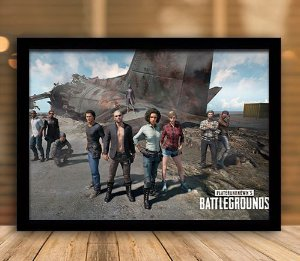 Poster com Moldura - Playerunknown's Battlegrounds PUGB   Mo.10