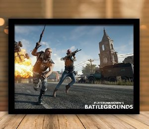 Poster com Moldura - Playerunknown's Battlegrounds PUGB   Mo.11