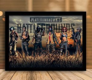 Poster com Moldura - Playerunknown's Battlegrounds PUGB   Mo.12