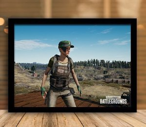 Poster com Moldura - Playerunknown's Battlegrounds PUGB   Mo.13