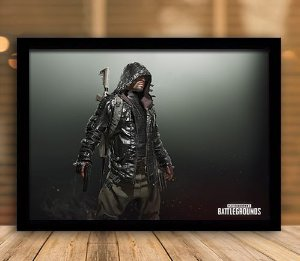 Poster com Moldura - Playerunknown's Battlegrounds PUGB   Mo.14