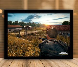 Poster com Moldura - Playerunknown's Battlegrounds PUGB   Mo.15