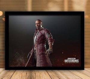Poster com Moldura - Playerunknown's Battlegrounds PUGB   Mo.17