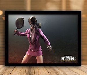 Poster com Moldura - Playerunknown's Battlegrounds PUGB   Mo.18