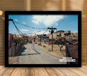 Poster com Moldura - Playerunknown's Battlegrounds PUGB   Mo.19