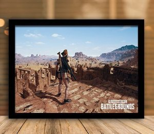Poster com Moldura - Playerunknown's Battlegrounds PUGB   Mo.20