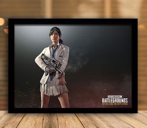 Poster com Moldura - Playerunknown's Battlegrounds PUGB   Mo.21