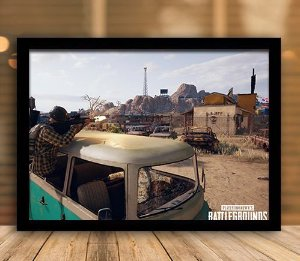 Poster com Moldura - Playerunknown's Battlegrounds PUGB   Mo.22