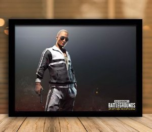 Poster com Moldura - Playerunknown's Battlegrounds PUGB   Mo.24