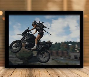 Poster com Moldura - Playerunknown's Battlegrounds PUGB   Mo.28