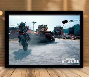 Poster com Moldura - Playerunknown's Battlegrounds PUGB   Mo.29